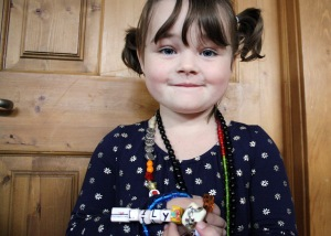 Lily Earl, a four-year-old who has been battling cancer.